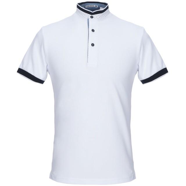 《セール開催中》ANDREA FENZI メンズ ポロシャツ ホワイト 48 コットン 95% / ポリウレタン 5%