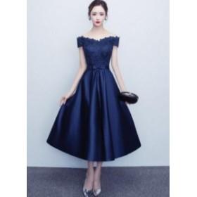 新品 パーティードレス ウェディングドレス 結婚式 ドレス 二次会 Aライン 姫系 イブニングドレス ブライダル 発表会 編み上
