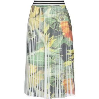 《セール開催中》MICHELA MII レディース 7分丈スカート グリーン one size ポリエステル 70% / レーヨン 28% / ポリウレタン 2%