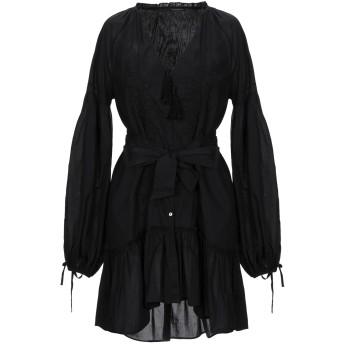 《セール開催中》WANDERING レディース ミニワンピース&ドレス ブラック 40 コットン 100%