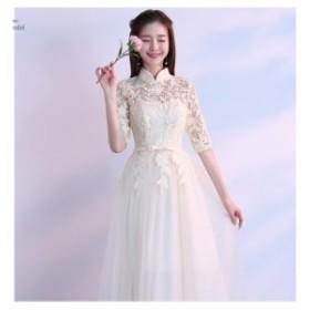 6種類展開 ロングドレス パーティードレス ウェディング イブニングドレス マキシ丈 ブライダル 二次会 結婚式