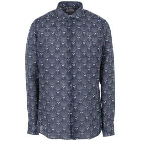 《セール開催中》GIAMPAOLO メンズ シャツ ブルー 38 麻 100%