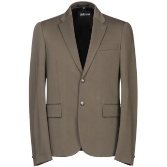 《セール開催中》JUST CAVALLI メンズ テーラードジャケット ミリタリーグリーン 48 レーヨン 70% / ナイロン 24% / ポリウレタン 6%