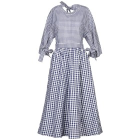 《セール開催中》ROSETTA GETTY レディース 7分丈ワンピース・ドレス ブルー 2 コットン 100%