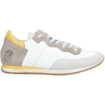 《セール開催中》QUATTROBARRADODICI レディース スニーカー&テニスシューズ(ローカット) イエロー 38 紡績繊維 / 革