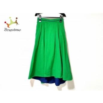 ミラオーウェン Mila Owen スカート サイズ1 S レディース グリーン×ネイビー   スペシャル特価 20200204