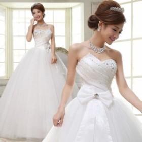 激安妊娠さんもOKウェディングドレス二点送料無料! 豪華な ウェディングドレス☆ロングドレス【結婚式】【二次会】【パーティー】 エン