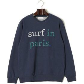 【69%OFF】surf in paris. クルーネック 長袖トップ ダークネイビー xs