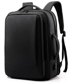 メンズ リュックサック 大容量 多重収納 多機能 撥水オックスフォード USB充電 アウトドア 旅行 通勤 カジュアル efg9194161