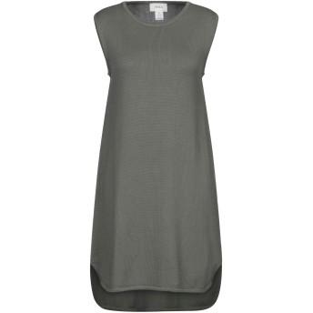 《セール開催中》VICOLO レディース ミニワンピース&ドレス ミリタリーグリーン one size コットン 100%