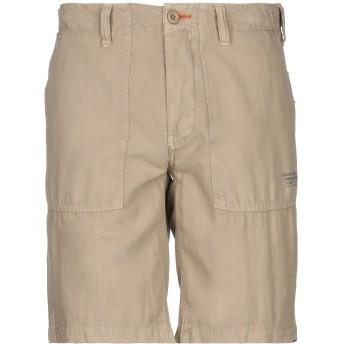 《セール開催中》SCHOTT メンズ ショートパンツ サンド 30 コットン 52% / 麻 48%