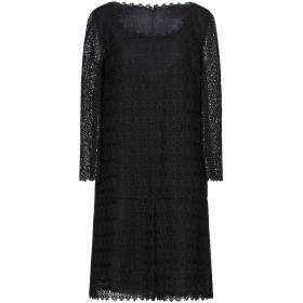 《セール開催中》ERMANNO SCERVINO レディース ミニワンピース&ドレス ブラック 44 ポリエステル 100%