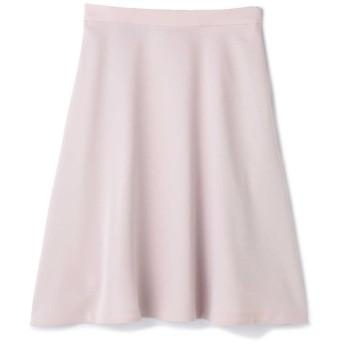 サテンストレッチサーキュラースカート ピンク