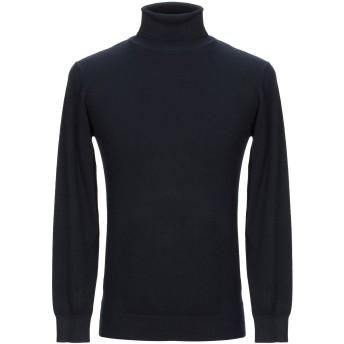 《セール開催中》BACK TO BLACK メンズ タートルネック ダークブルー XXL レーヨン 70% / ナイロン 20% / レーヨン 10%