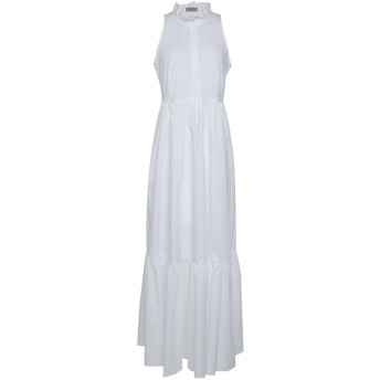 《セール開催中》TWINSET レディース ロングワンピース&ドレス ホワイト 38 コットン 96% / ポリウレタン 4%