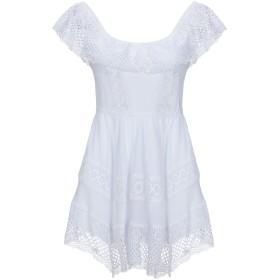 《セール開催中》CHARO RUIZ IBIZA レディース ミニワンピース&ドレス ホワイト XS コットン 90% / ポリエステル 10%