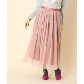 クチュールブローチ リバーシブルチュールロングスカート レディース ピンク(072) 38(M) 【Couture Brooch】