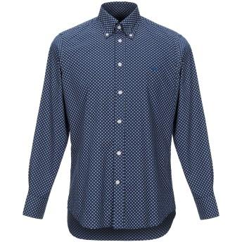 《セール開催中》HARMONT & BLAINE メンズ シャツ ブルー S コットン 100%