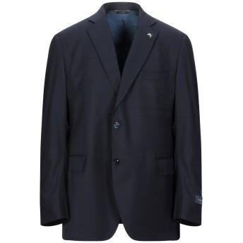 《セール開催中》TOMBOLINI メンズ テーラードジャケット ダークブルー 50 バージンウール 100%