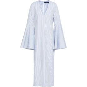 《セール開催中》ELLERY レディース 7分丈ワンピース・ドレス ホワイト 4 コットン 100%