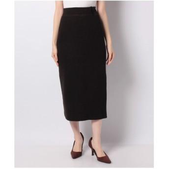 GIORDANOL [GIORDANO]ミニブークレリブロングスカート(ブラック)【返品不可商品】