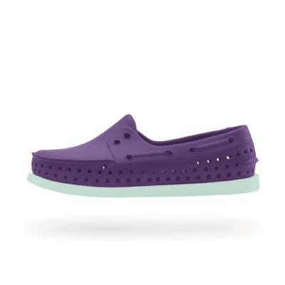 特價5折!! Native|HOWARD 13101100-5296 帆船鞋系列 小童 晴雨鞋 (葡萄紫x湖水綠)
