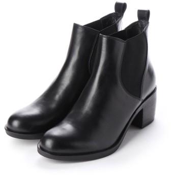 リ アンド デュウル Re_& Dur プレミアムレザー サイドゴア ブーツ (ブラック)