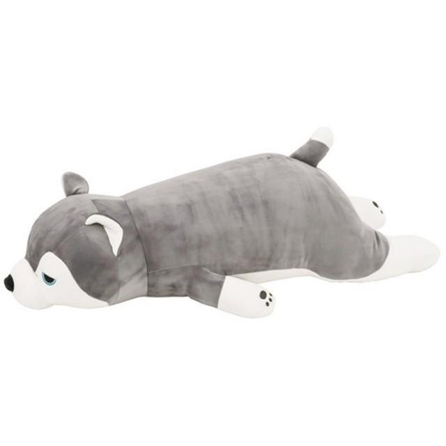 ハスキー犬のミント(48769-72)【プレミアムねむねむアニマルズ】抱きまくら Mサイズ抱き枕(イヌキャラクター)