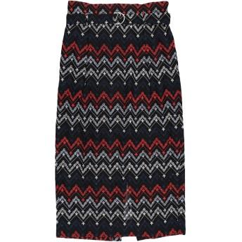 《セール開催中》SABINA MUSYEV レディース 7分丈スカート ブラック L コットン 50% / ポリエステル 50%
