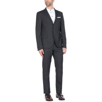 《セール開催中》DANIELE ALESSANDRINI メンズ スーツ スチールグレー 50 バージンウール 100%