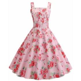 レディースロング丈ドレス 吊りワンピース ドレス フランス復古風ドレス大きい裾ワンピースビーチドレス ダンス衣装 団体服普段着 二枚送