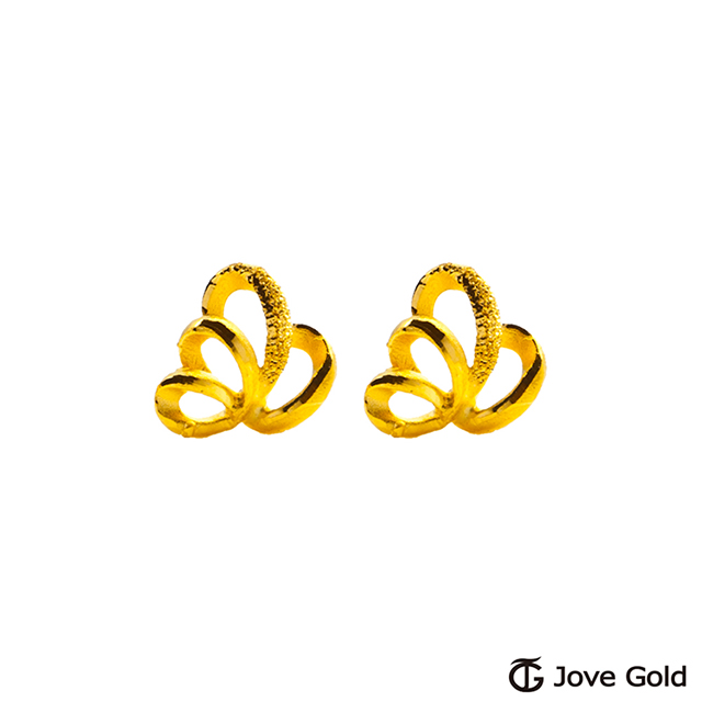 Jove Gold 漾金飾 蕙質蘭心黃金耳環