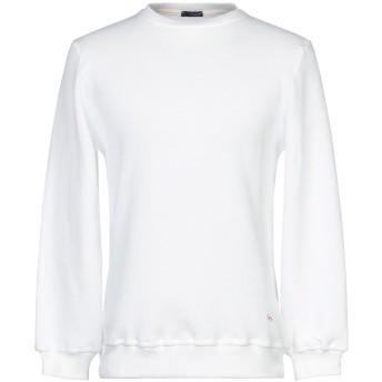 《セール開催中》(+) PEOPLE メンズ スウェットシャツ ホワイト M コットン 100%