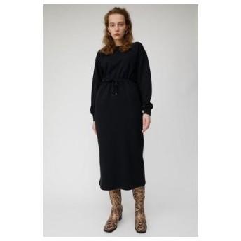 マウジー moussy BLOUSING SWEAT DRESS (ブラック)