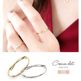 【ゆうパケットOK】リング 指輪 レディース 11号 ファッションリング クロス 重ね付け 大人 上品 エレガント 華奢 シンプル フェミニン オフィス 通勤 きれいめ ゴールド シルバー ピンクゴー