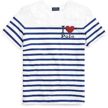 【SALE(三越)】<POLO RALPH LAUREN(ウィメンズ)/ポロラルフローレン> Polo ストライプド グラフィック Tシャツ ブルーストライプ【三越・伊勢丹/公式】