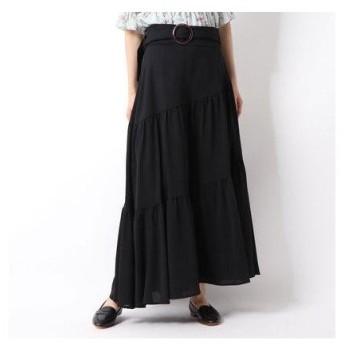 アルシーヴ archives a-ティアードアシメトリースカート (BLACK)