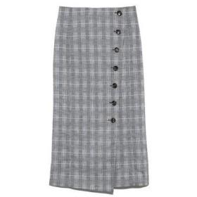 ミラオーウェン Mila Owen セットアップボタンデザインタイトスカート (チェック)
