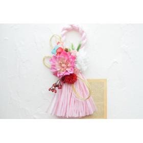 しめ縄タッセルリース〜pink〜