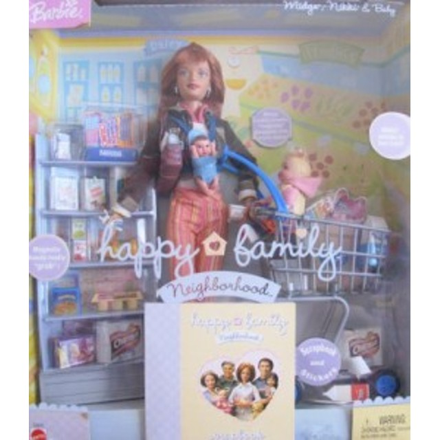 バービーBarbie Happy Family MIDGE, NIKKI & Baby Doll GROCERY SHOPPING Set (2004)