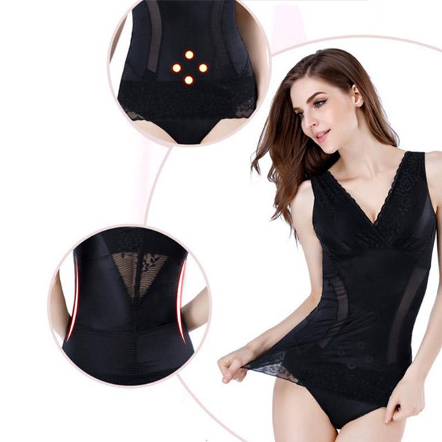 狐狸姬,M-3XL有罩杯塑身衣倫華超透氣修飾塑身衣單上衣(黑)