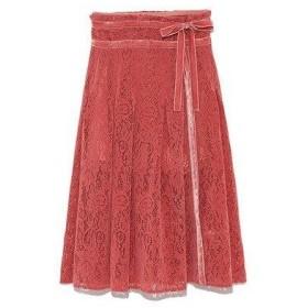 リリーブラウン Lily Brown フロッキーラップ風スカートパンツ (ピンク)