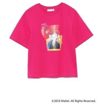 Lily Brown BarbieプリントTシャツ ピンク