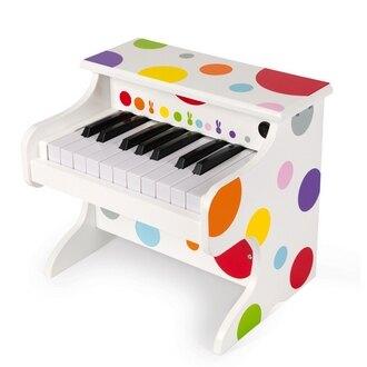 請務必先來電洽詢庫存【法國Janod】音樂好好玩-我的五彩電子鋼琴 J07618 /組