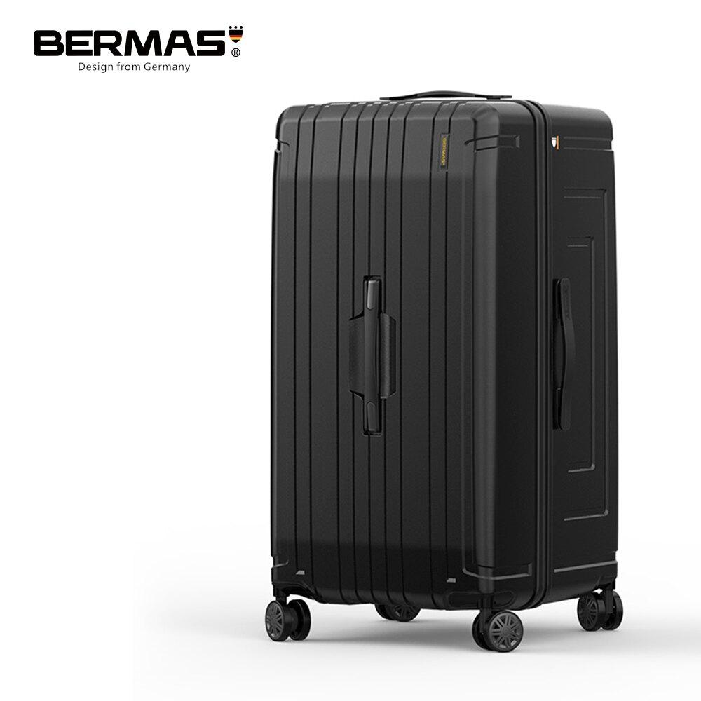 【代購必備】BERMAS戰艦系列- 30吋超輕防刮大容量行李箱 槍色/鈦金色 黑色胖胖箱 大容量輕量 收納代購箱 超深下蓋 耐用穩固