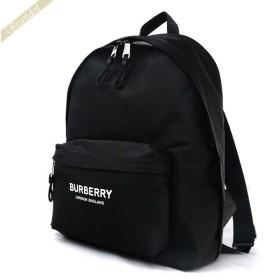 バーバリー BURBERRY メンズ・レディース リュックサック ロゴプリント バックパック ブラック 8016109