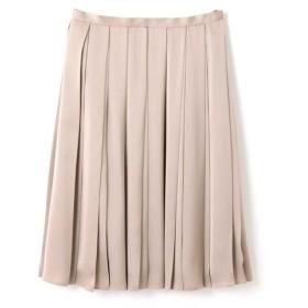 [マルイ]【セール】広幅プリーツサテンスカート/ナチュラルビューティー ラージ(NATURAL BEAUTY LARGE)