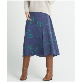 自由区 【マガジン掲載】サテンフラワープリントスカート(検索番号R43) その他 スカート,リーフグリーン