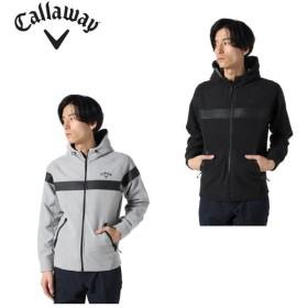 キャロウェイ ゴルフウェア ジャケット メンズ ラミネートフリースフルジップパーカー 241-9258506 Callaway