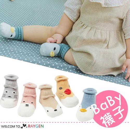 日系立體動物造型寶寶襪 短襪